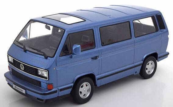 VW VOLKSWAGEN BUS t3 Multivan blu Star Blu 1993 Diecast KK 1/500 NEW 1:18