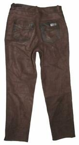 034-Dieter-Braun-034-Nubuk-Leather-Jeans-Men-039-s-Trousers-IN-Approx-W34-034-L33-034