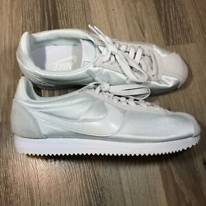 official photos 4ed2d 3c55b Image is loading Nike-Classic-Cortez-Shoes-Nylon-Mint-Green-White-
