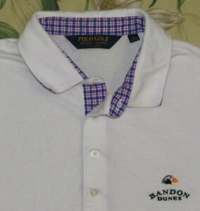 Mens-Polo-RALPH-LAUREN-White-Short-Sleeve-Golf-Shirt-Bandon-Dunes-Large-L