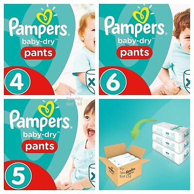 12-17kg Pampers Baby-Dry Pants Size 5 Nappy Choose QTY 32 64 96 128 Pack