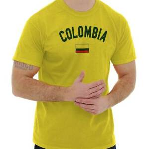 cc98f923772 Colombia Flag World Cup Soccer Colombian National Flag Pride T-Shirt ...