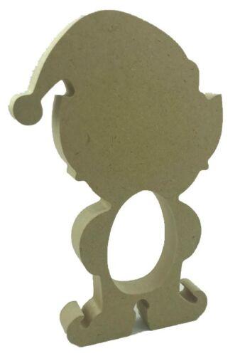 Christmas Elf Kinder Egg Holder 18mm MDF Freestanding Craft Shape Pack of 10