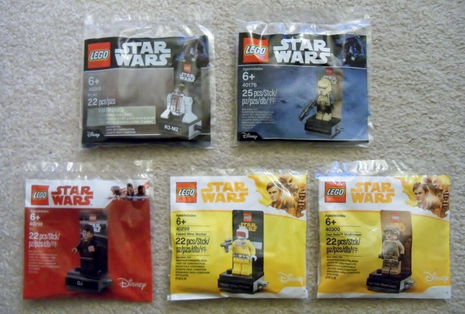 LEGO Star Wars - Rare - Set Of 5 - 40176 40268 40298 40299 40300 Han Solo - New