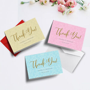 Personalised Wedding Thank You Cards   A5 Folded Format ...