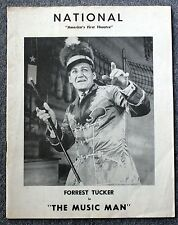 1961 THE MUSIC MAN Program FORREST TUCKER National Theatre THEATER Willson