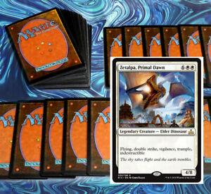 mtg-WHITE-DEFENSE-DECK-Magic-the-Gathering-rares-60-cards-smothering-tithe-baird