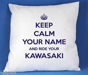 Keep-Calm-et-ride-your-KAWASAKI-luxe-satin-housse-de-coussin-peut-etre