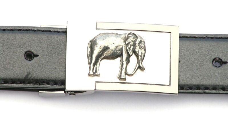 Elephant Kr Emblem Belt Buckle And Leather Belt In Gift Tin Ideal Wildlife 117