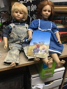 American-Heartland-Toni-amp-Timi-vinyl-dolls-by-Annette-Himstedt-1987