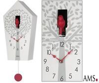 Ams Kuckucksuhr 7286 Quarz Pendeluhr Kuckuck Uhr Modern Nachtabschaltung Neu
