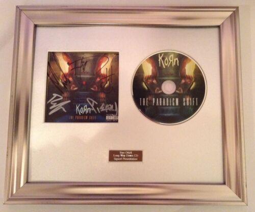 PERSONALLY SIGNED//AUTOGRAPHED KORN THE PARADIGM SHIFT CD FRAMED PRESENTATION.