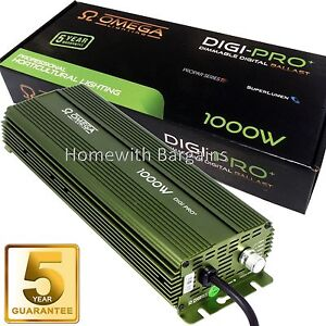 Image is loading OMEGA-PRO-1000-watt-Digital-Ballast-Dimmable-1150w-  sc 1 st  eBay & OMEGA PRO+ 1000 watt Digital Ballast Dimmable 1150w 1000w 600w 400w ...