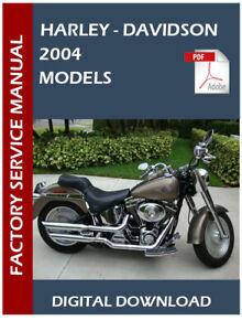 Harley Davidson 2004 Service Manual Wiring Diagrams In Pdf Format Ebay