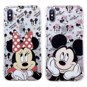 Disney-Cartoon-Mickey-Minnie-Soft-TPU-Clear-Case-Cover-For-iPhone-8-X-7-6s-Plus