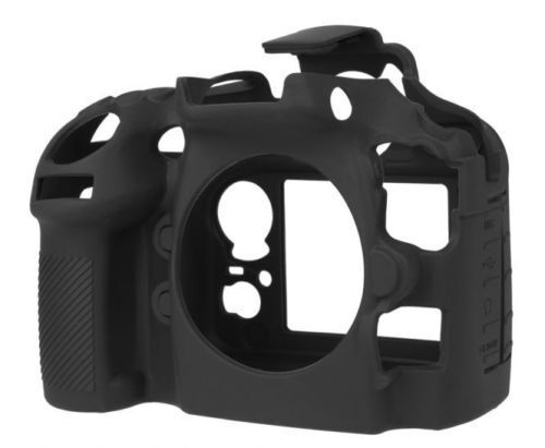 EasyCover Silicone Skin Case Cover Protector Nikon D800 D800E Black (UK Stock)