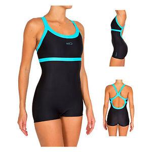 damen badeanzug classic sport schwimmanzug mit bein 36 38 40 42 44 46 48 50 52 ebay. Black Bedroom Furniture Sets. Home Design Ideas
