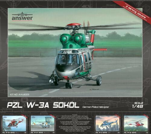 German Police plastic kit Falcon ANSWER 1//48 PZL W-3A Sokol