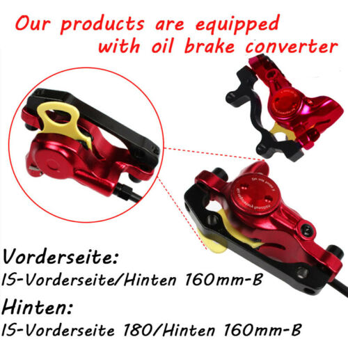 Hydraulische Scheiben Bremsen Bremssättel MTB Fahrrad 140//160//180//203mm Rotor DE