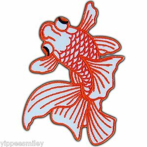 Goldfish koi carp fish lucky ornamental japan biker tattoo for Japanese ornamental fish
