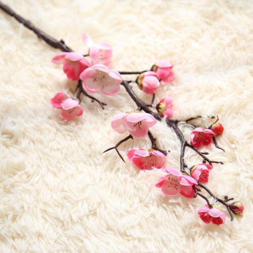 Artificial Silk Fake Flower Plum Blossom Floral Wedding Bouquet Party Decoration