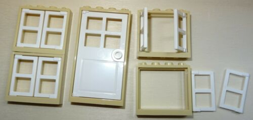 Nr.5313 Lego 60594+60608+60596,+60623 beige 4 Fenster 1x4x3 Tür 1x4x6 weiß