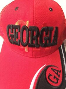 Image is loading Georgia-Bulldogs-Snapback-Baseball-Cap-UGA-Mesh-Trucker- 1fcb669983e