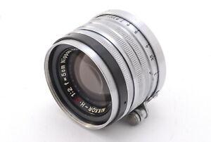 N MINT +++ Nikon Nikkor H.C 50mm 5cm f/2 Objektiv l39 Leica Screw LTM aus Japan