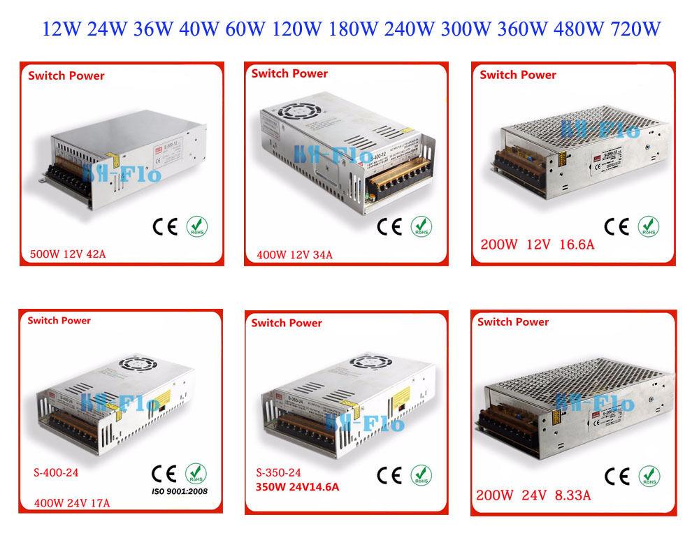 Detective Comics AC110-220V a 24 V 12 V Interruptor Suministro potencia Controlador Adaptador para Tira LED