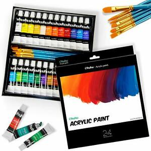 Acrylic-Paint-Set-24-Colors-by-Ohuhu-Perfect-For-Canvas-Wood-Ceramic-Fabric