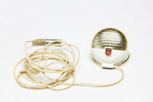 Phillips  EL 3750/00 Lustrette Vintage 1956 Microphone with Stand Tested & Work