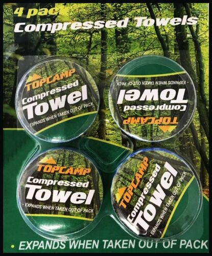 COMPRESSED TOWELS CAMPING HIKING FESTIVAL SURVIVAL AID TEATOWEL TEA WASHING TENT
