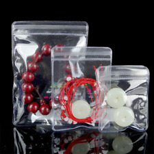 100 Thicken Pvc Self Seal Bags Clear Anti Oxidation Plastic Jewelry Pouches