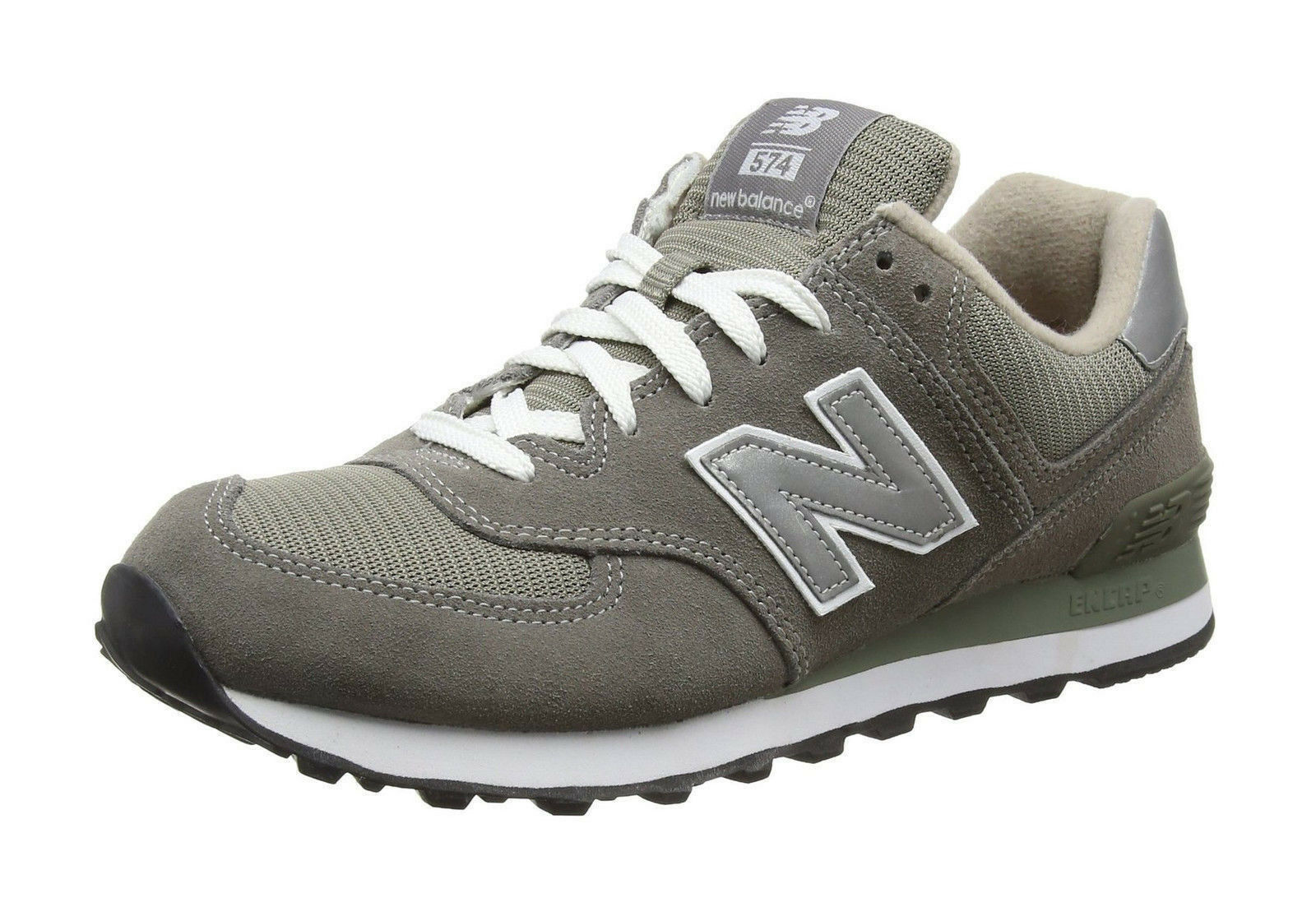 New Balance 574 Men's Running Shoe M574GS - Gray/White