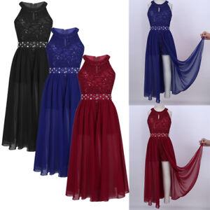 Kid Flower Girl Lace Romper Dress Lyrical Dance Party Wedding ... d4af84abc98b