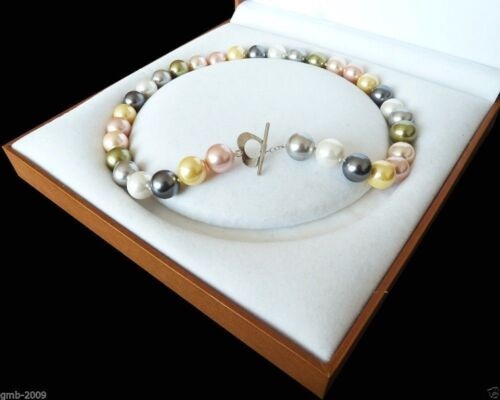Rare Huge 12mm Genuine South Sea Shell Pearl Round Beads Necklace 18/'/' AAA+