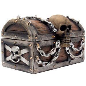 Image Is Loading Pirate Treasure Chest Skull Trinket Box Jewelry Hidden