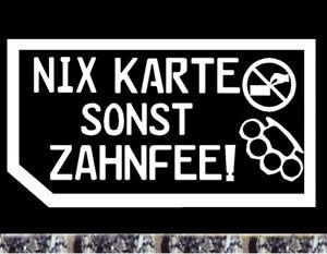 Details Zu Autohändler Visitenkarte Nein Danke Aufkleber Nix Karte Sonst Zahnfee