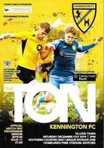 Kennington-v-Lydd-Town-21st-December-2019-Match-Programme-2019-2020