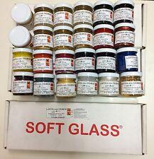 24 Soft Glass ICE RESIN RESINA Colorata + Catalizzatori HOBBY CREATIVI FAI DA TE
