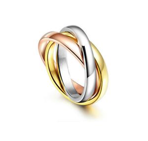 Anello-Fedi-Fedine-Trilogy-Coppia-3-Anelli-in-1-Cerchi-Acciaio-Donna-Oro-Argento