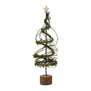Weihnachtsbaum Metall Spirale.Details Zu Tannenpyramide Auf Holzsockel 59 Cm Metall Baum Tannenbaum Spirale 1317528 00