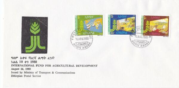 DernièRe Collection De Ethiopie: 1988: 10th Anniversaire Du Fida, Fdc Artisanat D'Art