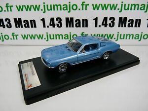 PRX5-1-43-IXO-PREMIUM-X-resine-PRD367J-FORD-MUSTANG-GT-Fastback-1967-bleu