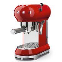 Smeg Ecf01rdeu Rot Siebträger Kaffeemaschine Für Pad Und Pulver