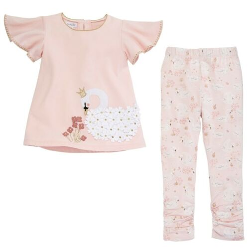 Mud Pie E9 Baby Girl Swan Lake Tunic /& Capri Set 11010086 Choose