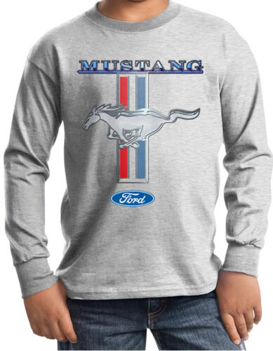 Kids Long Sleeve T-Shirt Ford Mustang Shirt Mustang Stripe