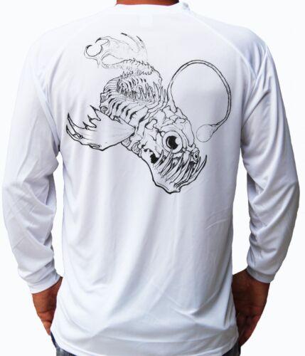 Anglerfish Fish Bones Long Sleeve UPF 30 T-Shirt Fishing Boat UV Protection