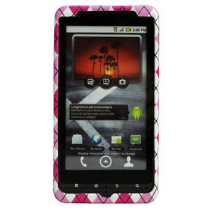 Body-Glove-Pink-Arglye-Snap-On-Hard-Case-Cover-for-Motorola-Droid-X2-MB870