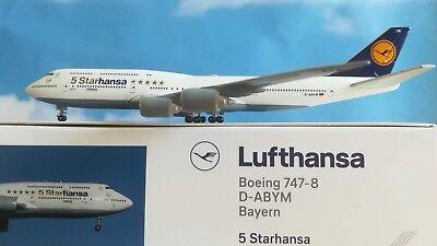 """Herpa Wings 1//500 lufthansa boeing 747-8i /""""starhansa/"""" D-abym /""""Baviera/"""" 531504"""